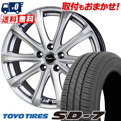 225/45R18 91W TOYO TIRES トーヨー タイヤ SD-7 エスディーセブン Exceeder E04 エクシーダー E04 サマータイヤホイール4本セット