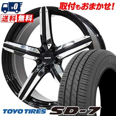 225/45R18 91W TOYO TIRES トーヨー タイヤ SD-7 エスディーセブン ESTATUS Style-CTR エステイタス スタイルCTR サマータイヤホイール4本セット
