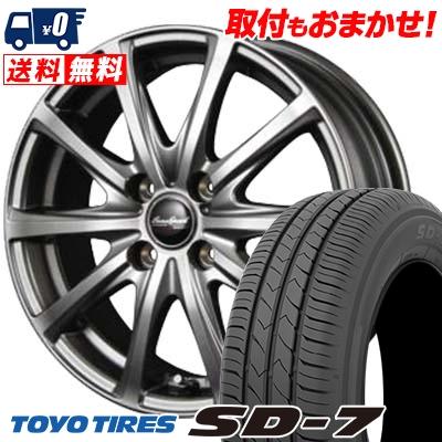 185/65R15 88S TOYO TIRES トーヨー タイヤ SD-7 エスディーセブン EuroSpeed V25 ユーロスピード V25 サマータイヤホイール4本セット