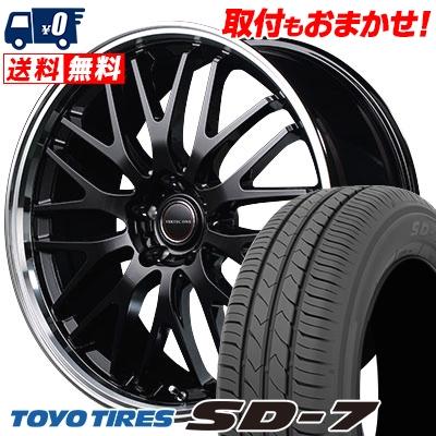 215/45R17 87W TOYO TIRES トーヨー タイヤ SD-7 エスディーセブン VERTEC ONE EXE10 ヴァーテックワン エグゼ10 サマータイヤホイール4本セット