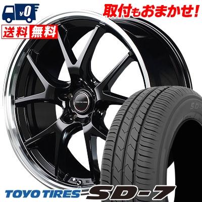 215/45R17 87W TOYO TIRES トーヨー タイヤ SD-7 エスディーセブン VERTEC ONE EXE5 ヴァーテックワン エグゼ5 サマータイヤホイール4本セット