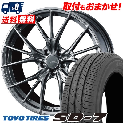 225/45R18 91W TOYO TIRES トーヨー タイヤ SD-7 エスディーセブン WEDS F ZERO FZ-1 ウェッズ エフゼロ FZ-1 サマータイヤホイール4本セット【取付対象】