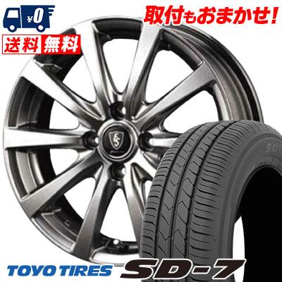 185/60R15 84H TOYO TIRES トーヨー タイヤ SD-7 エスディーセブン Euro Speed G10 ユーロスピード G10 サマータイヤホイール4本セット