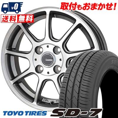 185/65R14 86S TOYO TIRES トーヨー タイヤ SD-7 エスディーセブン G.Speed P-01 Gスピード P-01 サマータイヤホイール4本セット