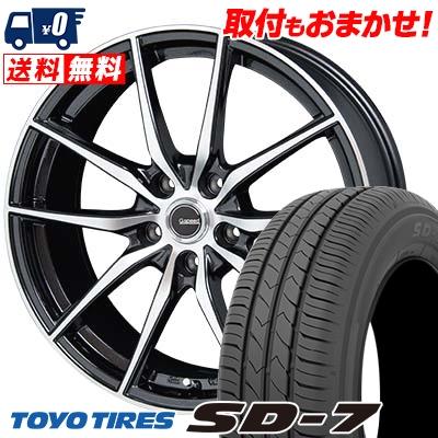 225/45R18 91W TOYO TIRES トーヨー タイヤ SD-7 エスディーセブン G.Speed P-02 Gスピード P-02 サマータイヤホイール4本セット
