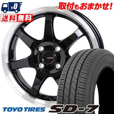 185/70R14 88S TOYO TIRES トーヨー タイヤ SD-7 エスディーセブン G.speed P-03 ジースピード P-03 サマータイヤホイール4本セット