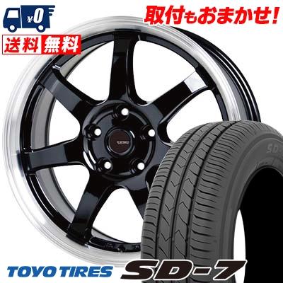205/65R15 94H TOYO TIRES トーヨー タイヤ SD-7 エスディーセブン G.speed P-03 ジースピード P-03 サマータイヤホイール4本セット