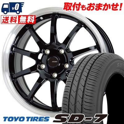 205/60R16 92H TOYO TIRES トーヨー タイヤ SD-7 エスディーセブン G.speed P-04 ジースピード P-04 サマータイヤホイール4本セット