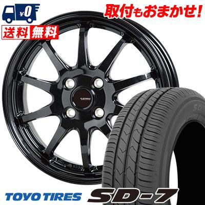 175/65R14 82S TOYO TIRES トーヨー タイヤ SD-7 エスディーセブン G.speed G-04 Gスピード G-04 サマータイヤホイール4本セット
