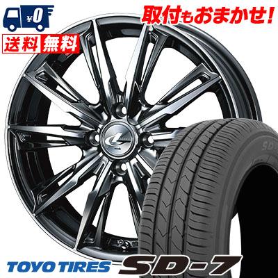 175/60R16 82H TOYO TIRES トーヨー タイヤ SD-7 エスディーセブン WEDS LEONIS GX ウェッズ レオニス GX サマータイヤホイール4本セット