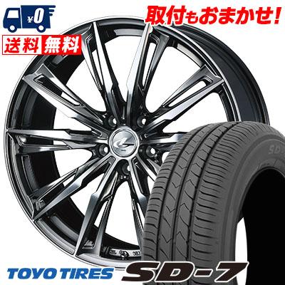 215/55R17 94V TOYO TIRES トーヨー タイヤ SD-7 エスディーセブン WEDS LEONIS GX ウェッズ レオニス GX サマータイヤホイール4本セット