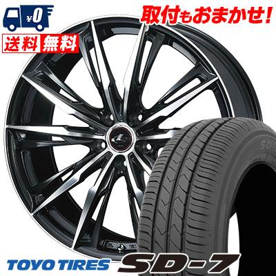 215/45R17 87W TOYO TIRES トーヨー タイヤ SD-7 エスディーセブン WEDS LEONIS GX ウェッズ レオニス GX サマータイヤホイール4本セット