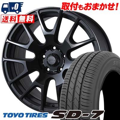 215/45R17 87W TOYO TIRES トーヨー タイヤ SD-7 エスディーセブン IGNITE XTRACK イグナイト エクストラック サマータイヤホイール4本セット