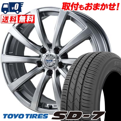 215/50R17 91V TOYO TIRES トーヨー タイヤ SD-7 エスディーセブン ZACK JP-110 ザック JP110 サマータイヤホイール4本セット