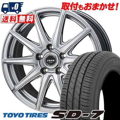 195/65R15 91H TOYO TIRES トーヨー タイヤ SD-7 エスディーセブン ZACK JP-710 ザック ジェイピー710 サマータイヤホイール4本セット