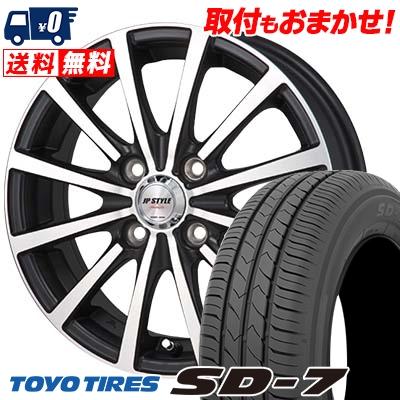 185/60R15 84H TOYO TIRES トーヨー タイヤ SD-7 エスディーセブン JP STYLE Shangly JPスタイル シャングリー サマータイヤホイール4本セット