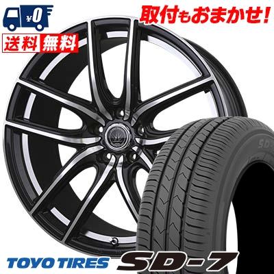 215/55R17 94V TOYO TIRES トーヨー タイヤ SD-7 エスディーセブン LOXARNY KERAS バドックス ロクサーニ ケラス サマータイヤホイール4本セット