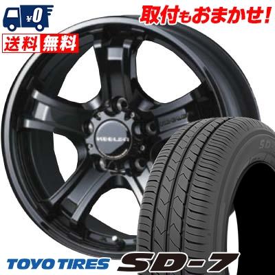 205/60R16 92H TOYO TIRES トーヨー タイヤ SD-7 エスディーセブン KEELER FORCE キーラーフォース サマータイヤホイール4本セット, こむろのキモノ fa21441a