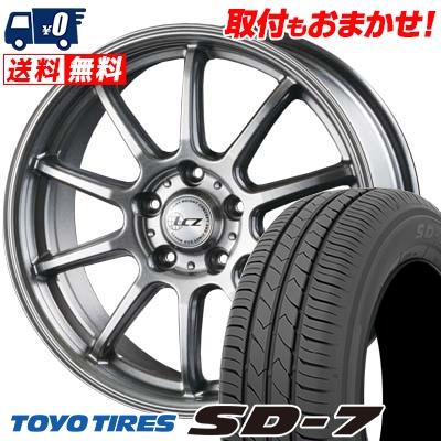 215/50R17 91V TOYO TIRES トーヨー タイヤ SD-7 エスディーセブン LCZ010 LCZ010 サマータイヤホイール4本セット
