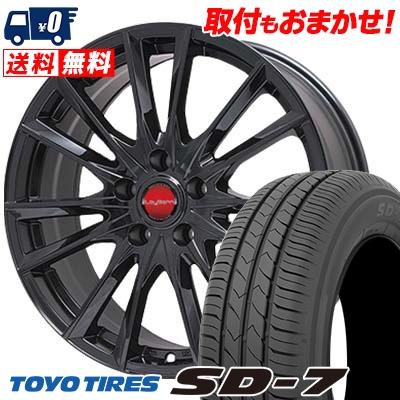 225/45R18 91W TOYO TIRES トーヨー タイヤ SD-7 エスディーセブン LeyBahn GBX レイバーン GBX サマータイヤホイール4本セット