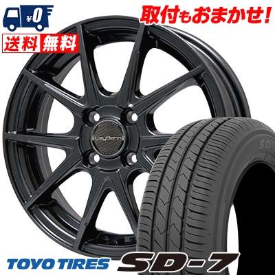 185/60R15 84H TOYO TIRES トーヨー タイヤ SD-7 エスディーセブン LeyBahn WGS レイバーン WGS サマータイヤホイール4本セット