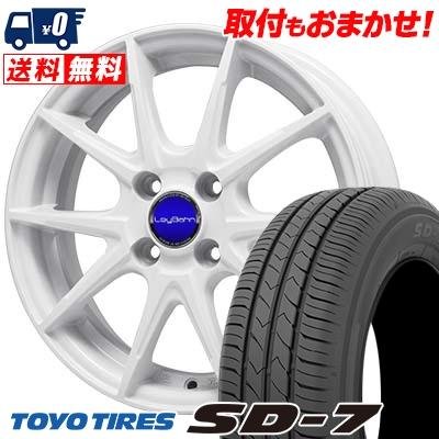 155/80R13 79S TOYO TIRES トーヨー タイヤ SD-7 エスディーセブン LeyBahn WGS レイバーン WGS サマータイヤホイール4本セット
