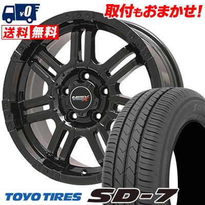 205/55R16 91V TOYO TIRES トーヨー タイヤ SD-7 エスディーセブン B-MUD X Bマッド エックス サマータイヤホイール4本セット