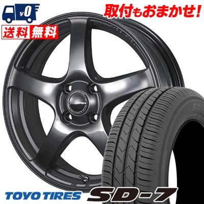 185/55R15 82V TOYO TIRES トーヨー タイヤ SD-7 エスディーセブン PIAA Eleganza S-01 PIAA エレガンツァ S-01 サマータイヤホイール4本セット