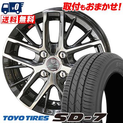 175/70R14 84S TOYO TIRES トーヨー タイヤ SD-7 エスディーセブン SMACK REVILA スマック レヴィラ サマータイヤホイール4本セット