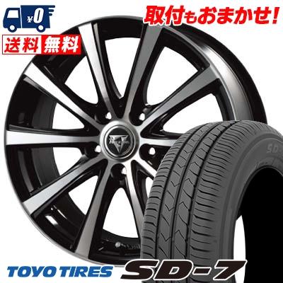 215/45R17 87W TOYO TIRES トーヨー タイヤ SD-7 エスディーセブン Razee XV レイジー XV サマータイヤホイール4本セット