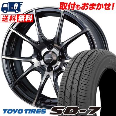175/65R15 84S TOYO TIRES トーヨー タイヤ SD-7 エスディーセブン wedsSport SA-10R ウエッズスポーツ SA10R サマータイヤホイール4本セット