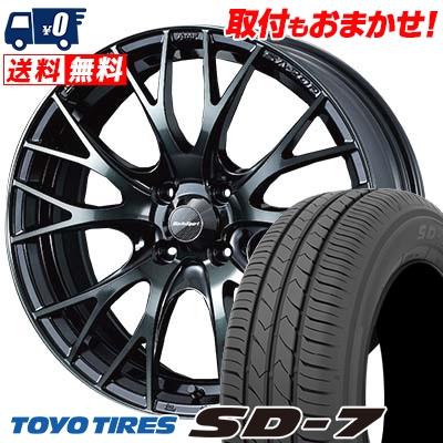 185/60R15 84H TOYO TIRES トーヨー タイヤ SD-7 エスディーセブン WedsSport SA-20R ウェッズスポーツ SA20R サマータイヤホイール4本セット