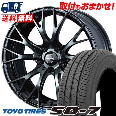 225/45R18 91W TOYO TIRES トーヨー タイヤ SD-7 エスディーセブン WedsSport SA-20R ウェッズスポーツ SA20R サマータイヤホイール4本セット