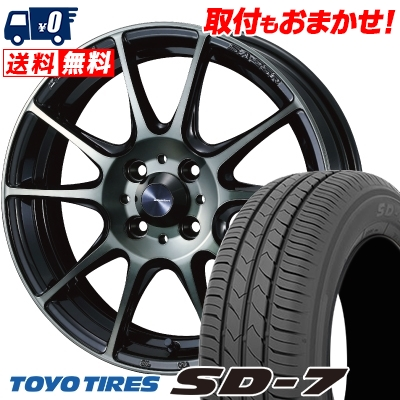 185/60R15 84H TOYO TIRES トーヨー タイヤ SD-7 エスディーセブン WedsSport SA-25R ウェッズスポーツ SA-25R サマータイヤホイール4本セット