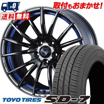 225/45R18 91W TOYO TIRES トーヨー タイヤ SD-7 エスディーセブン WedsSport SA-35R ウェッズスポーツ SA-35R サマータイヤホイール4本セット【取付対象】