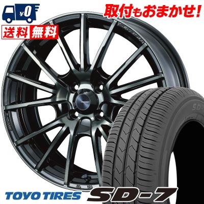 185/60R15 84H TOYO TIRES トーヨー タイヤ SD-7 エスディーセブン WedsSport SA-35R ウェッズスポーツ SA-35R サマータイヤホイール4本セット