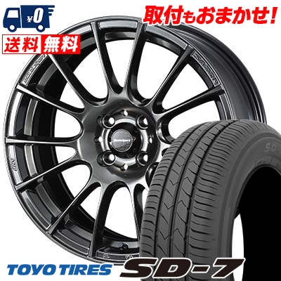 175/60R16 82H TOYO TIRES トーヨー タイヤ SD-7 エスディーセブン WedsSport SA-72R ウェッズスポーツ SA-72R サマータイヤホイール4本セット