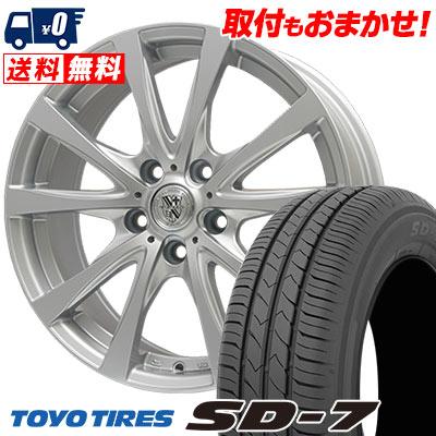 215/55R17 94V TOYO TIRES トーヨー タイヤ SD-7 エスディーセブン TRG-SILBAHN TRG シルバーン サマータイヤホイール4本セット