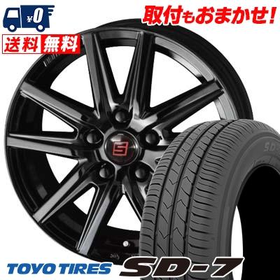 225/45R18 91W TOYO TIRES トーヨー タイヤ SD-7 エスディーセブン SEIN SS BLACK EDITION ザイン エスエス ブラックエディション サマータイヤホイール4本セット