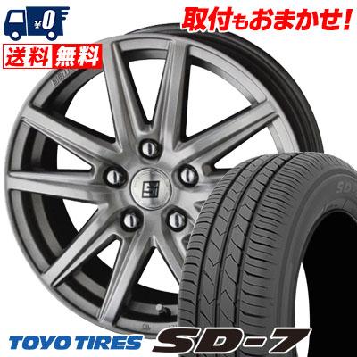205/55R16 91V TOYO TIRES トーヨー タイヤ SD-7 エスディーセブン SEIN SS ザイン エスエス サマータイヤホイール4本セット