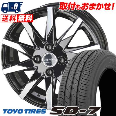 185/60R15 84H TOYO TIRES トーヨー タイヤ SD-7 エスディーセブン SMACK SFIDA スマック スフィーダ サマータイヤホイール4本セット