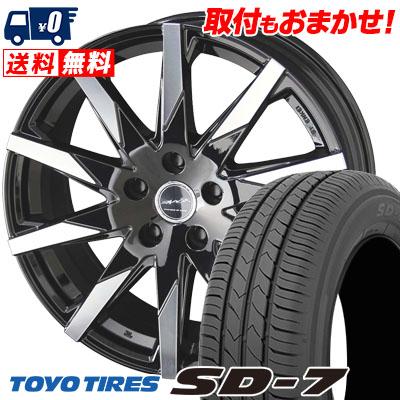 215/60R16 95H TOYO TIRES トーヨー タイヤ SD-7 エスディーセブン SMACK SFIDA スマック スフィーダ サマータイヤホイール4本セット