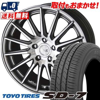 215/50R17 91V TOYO TIRES トーヨー タイヤ SD-7 エスディーセブン STEINER FORCED SERIES SF-X シュタイナー フォースドシリーズ SF-X サマータイヤホイール4本セット