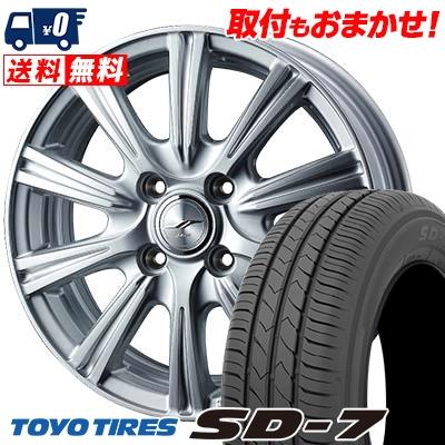 165/70R14 81S TOYO TIRES トーヨー タイヤ SD-7 エスディーセブン JOKER STIR ジョーカー ステア サマータイヤホイール4本セット