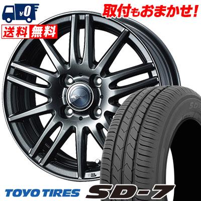 185/60R15 84H TOYO TIRES トーヨー タイヤ SD-7 エスディーセブン Zamik Tito ザミック ティート サマータイヤホイール4本セット