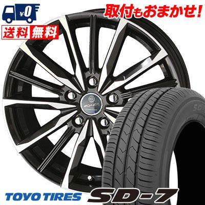 205/55R16 91V TOYO TIRES トーヨー タイヤ SD-7 エスディーセブン SMACK VALKYRIE スマック ヴァルキリー サマータイヤホイール4本セット