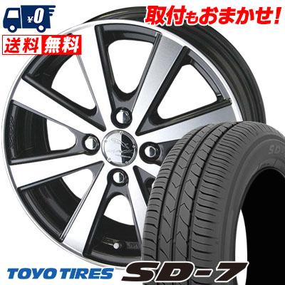 175/65R14 82S TOYO TIRES トーヨー タイヤ SD-7 エスディーセブン SMACK VIR スマック VI-R サマータイヤホイール4本セット