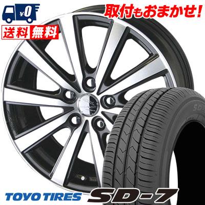 215/55R17 94V TOYO TIRES トーヨー タイヤ SD-7 エスディーセブン SMACK VIR スマック VI-R サマータイヤホイール4本セット