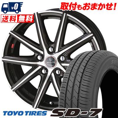 215/55R17 94V TOYO TIRES トーヨー タイヤ SD-7 エスディーセブン SMACK PRIME SERIES VANISH スマック プライムシリーズ ヴァニッシュ サマータイヤホイール4本セット