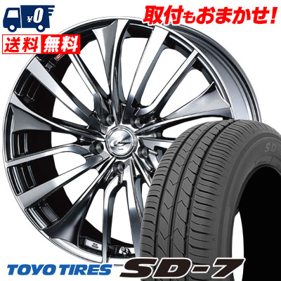 215/50R17 91V TOYO TIRES トーヨー タイヤ SD-7 エスディーセブン weds LEONIS VT ウエッズ レオニス VT サマータイヤホイール4本セット